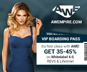 Go first class with AWE! Get 35-45% on WL, REVS & Lifetime!